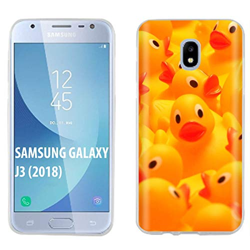 [Mobiflare] Samsung Galaxy J3 2018/Amp Prime 3/Express Prime 3/Achieve/Star/J338 Ultraflex Thin Gel Phone Cover [Rubber Ducky Print] ()