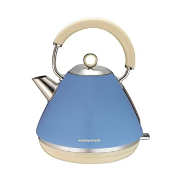 Cornflower Blue, Kettle: Morphy Richards 102010 Accents Pyramid Kettle, 1.5 L