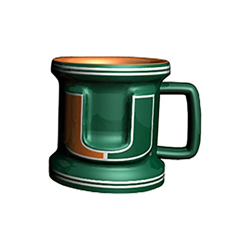 Hurricanes Coffee Mug (NCAA Miami Hurricanes Sculpted Mini Mug, 2-ounce)