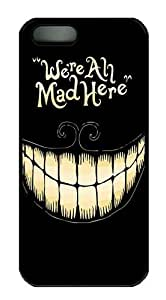 For SamSung Galaxy S5 Phone Case Cover - We're All Mad Here PC for For SamSung Galaxy S5 Phone Case Cover - Black
