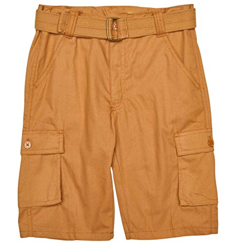 - Quad Seven Boys Ripstop Belted Cargo Shorts (Bronze, 10)'
