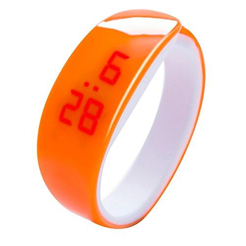 Hattfart ユニセックス ラバーLEDウォッチ 日付 スポーツブレスレット ヤングファッション デジタル腕時計 Environmental silica gel