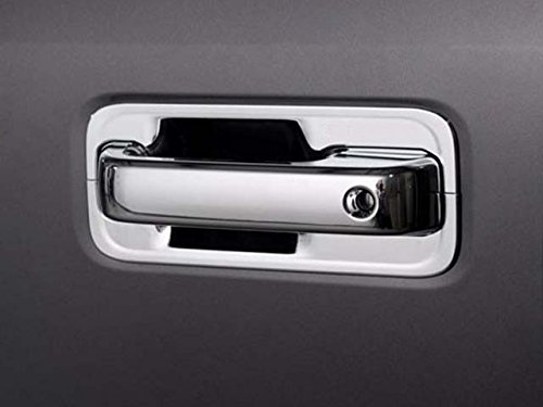 QAA fits 2015-2020 Ford F-150, 2017-2020 Ford F-250 & F-350 Super Duty 12 Piece Chrome Plated ABS Plastic Door Handle Cover Kit, Includes Key DH55310