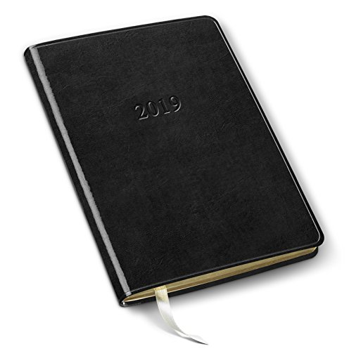2019 Gallery Leather Desk Weekly Planner Acadia Black 8