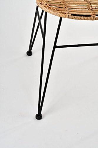 in Rattan Sedia Poltrona in Vimini Comodo con braccioli Sala da Pranzo Salotto Balcone terrazzo Sedia Design Rattan Animal Magy 60002