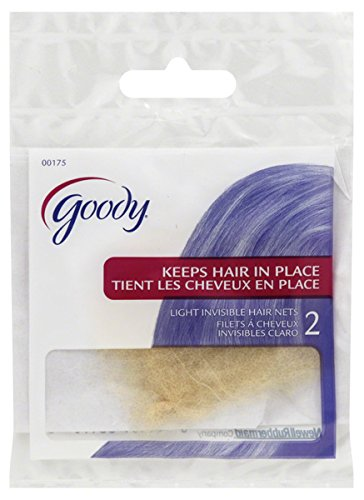 Goody 2 Sheer Secret Hair Net, Nylon with Vanishing Spandex Edge, Dark Brown.