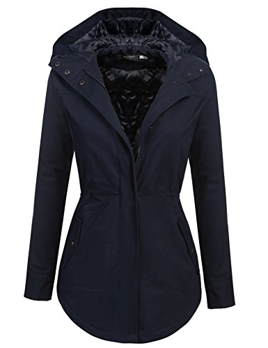Zeagoo Women's Cotton Padded Parka Coat Zip Up Jacket with Hood