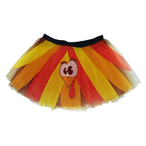 Gone For a Run Runners Printed Tutu Lightweight | One Size Fits Most | Colorful Running Skirts | Goofy Turkey by Gone For a Run