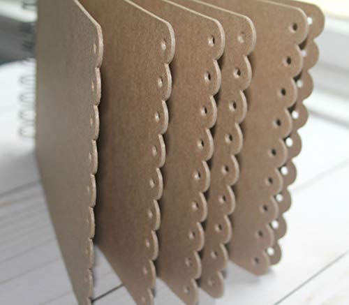 """Long eyelet scallop edge Chipboard Album book rings or wire bound 5 1/2"""" x 8 3/8"""""""