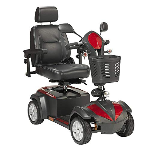 "Drive Ventura Power Mobility Scooter, 4 Wheel, 20"" Captains Seat & Free Front Zip Pocket Medical Utility Black Bag! - #VENTURA420CS"