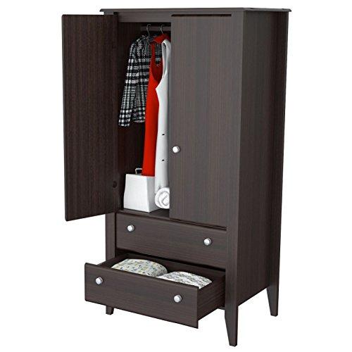 Double Faced Shelving Set - Svitlife Fremont Modern 2-door Storage Armoire Storage Armoire 2 Door Wardrobe Closet Cabinet Wood Bedroom Clothes