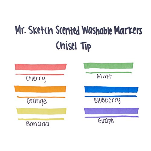Mr. Sketch Scented Washable Markers, Chisel-Tip, Set of 6 by Mr. Sketch (Image #3)