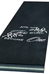 Two Shall Become One Black Aisle Runner, 1
