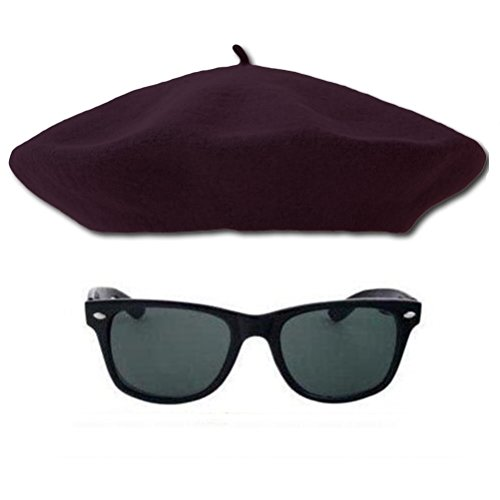 1950s Beatnik Hipster Combo Kit, Dark Navy Beret and (Beatnik Costumes For Halloween)