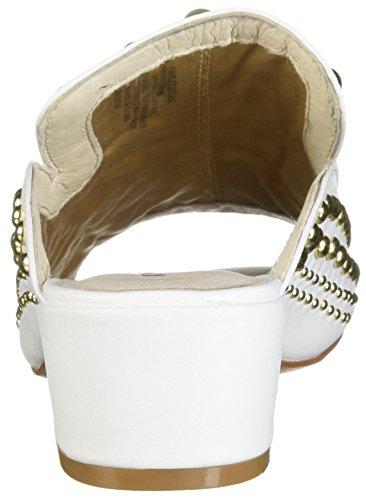 York Medium Toe Slide Studded New Sandal Cole Open Kenneth White Women's Farley x6gHwv