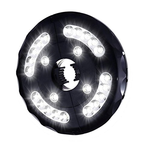 Patio Umbrella LED Light, Jiayit Cordless 24 LED Night Lights Battery Operated Umbrella Pole Light for Umbrellas, Camping Tents or (Solar Cordless Led Grill Light)