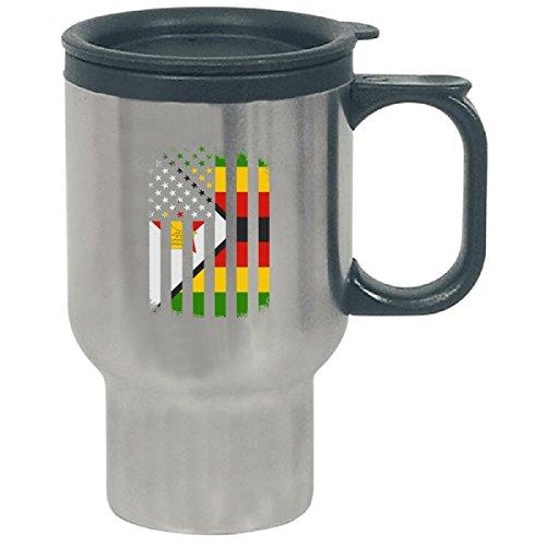 Zimbabwe And America Combined Flag - Travel Mug