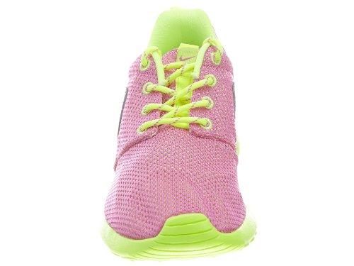 Nike Girl's Grade-School Roshe Run Sneakers Pink Green Size 5.5Y US big discount 100% original swd9pG