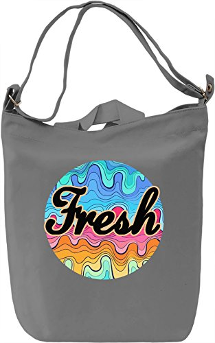 Fresh Borsa Giornaliera Canvas Canvas Day Bag| 100% Premium Cotton Canvas| DTG Printing|