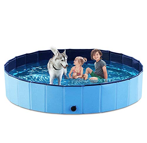 Jasonwell Foldable Dog Pet Bath Pool Collapsible Dog Pet Pool Bathing Tub Kiddie Pool for Dogs Cats & Kids (63