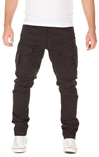 Yazubi Herren Cargo Hose Jayden (Relaxed Fit ggf. eine Nummer kleiner bestellen), black (4008), W34/L32