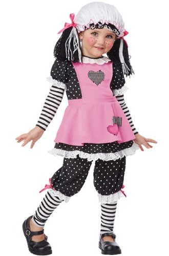 Rag Doll Child Gothic Costumes (California Costumes Rag Dolly Toddler Costume,)