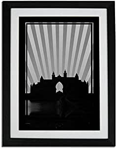 Atlantis - Black And White No Text F01-m (a2) - Framed