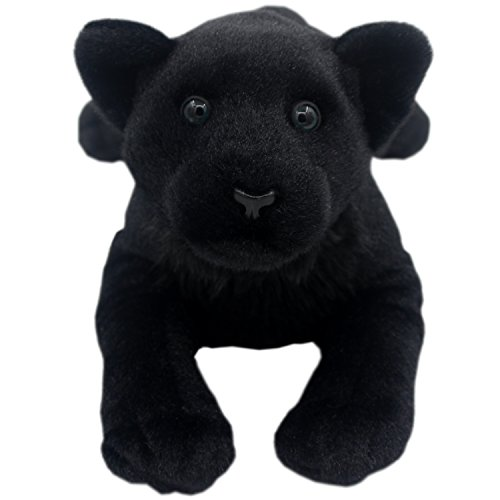 TAGLN Stuffed Animals Toys Panther Plush Lifelike Tiger Leopard Lioness Pillows (Black Panther, 24 Inch)