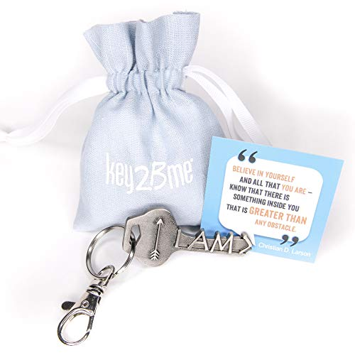 key2Bme Greater Than Key - Arrow Keychain & Inspirational Quote - The Cute Cool Fun Unique Small Gift Under $10 for Giving Women Men Encouragement Positivity Good Luck Congratulations New Job -