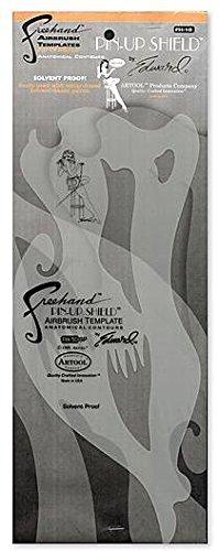 Artool Pin-Up Shield Airbrush Template 1 pcs sku# 1843048MA