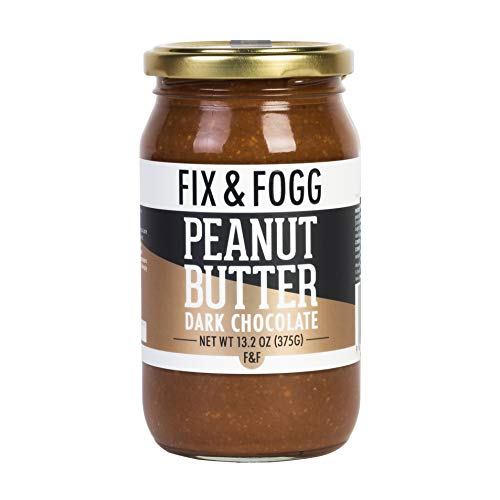 Gourmet Dark Chocolate Peanut Butter from Fix & Fogg with 60% Dark Chocolate. Keto Friendly. Project Non-GMO certified. Superior Tasting Chunky Chocolate Spread. Low in Sugar (13.2 oz) 2