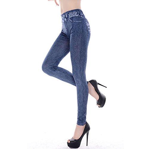 GGTBOUTIQUE Damen Leggings Blau blau