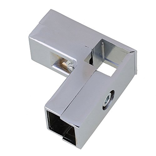 Aluminum Alloy 3 Way L Shape Square Tube Clamp Tube Connector Pipe Fittings ()