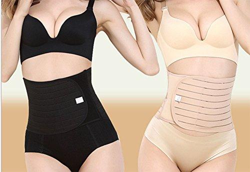 e di recupero materno addominale supporto Nero elastico postnatale per Cintura supporto traspirante HzwAqFA