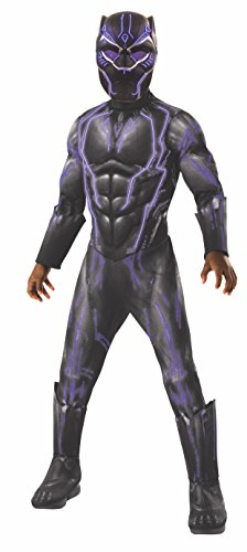 Discount Halloween Costumes - Rubie's Boys Black Panther Super Deluxe