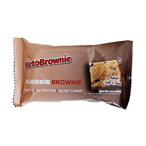 KetoBrownie - Low-Carb High Fat Baked Keto Brownies (12-Count Blondie Brownie) by KetoBrownie