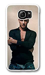 Galaxy S6 Case, S6 Cases, Custom David Beckham Galaxy S6 Bumper Case [Scratch Resistant] [Shock-Absorbing] Hard Plastic White Protective Cover Cases for New Samsung Galaxy S6