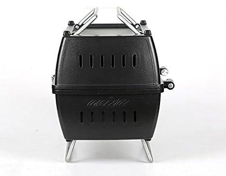 Aniva PRTK 01 - Barbacoa portátil de carbón, color negro: Amazon.es: Jardín
