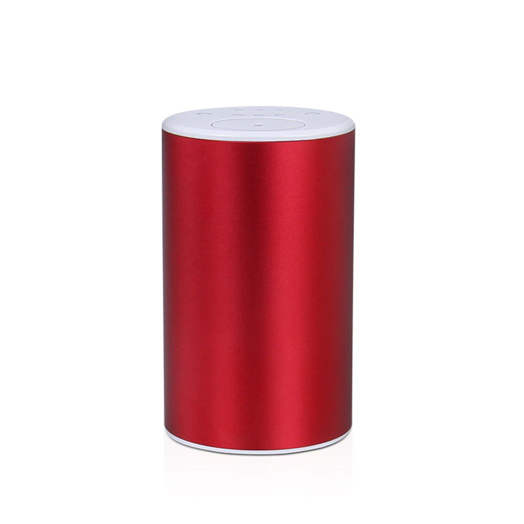 Waterless Battery Operated Essential Oil Scent Diffuser Nebulizer for Home/Office/Car/Travel/Camping/Spa/Gifts Red