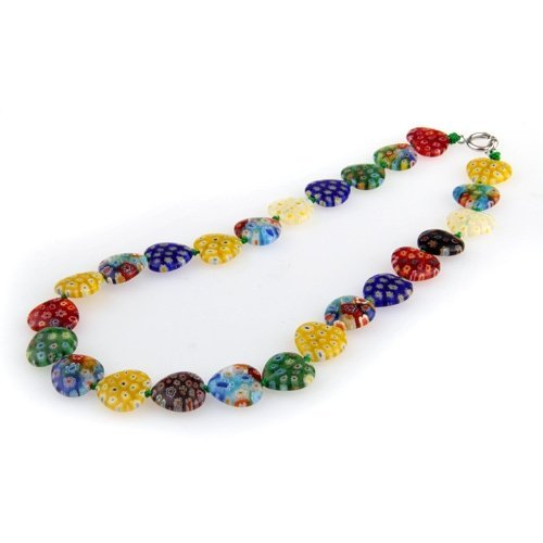 Necklace - TOOGOO(R) choker necklace Venetian glass lampwork Heart 16 (Heart Venetian Necklace)
