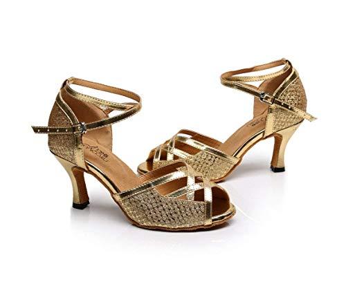 uk6 Altos tango Moderno Rosaapiel6cm samba Mujer Our41 Salsa Té Tacones De Zapatos Willsego Jazz Latina Eu40 5 Para Sandalias zapatillas Baile 0Tgaxv