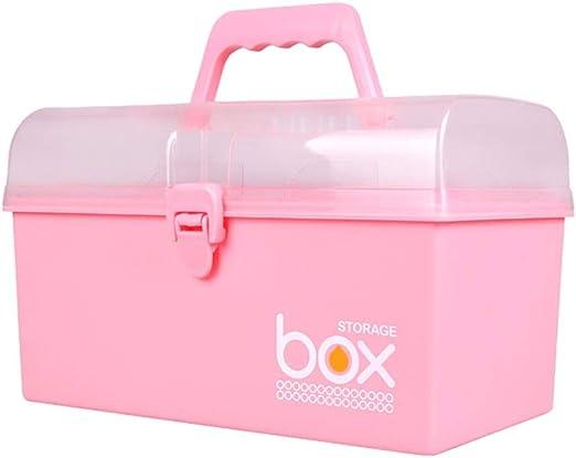 6925AA ArtBin Art Craft Storage Box Super Semi-Satchel-Clear with Aqua Handle