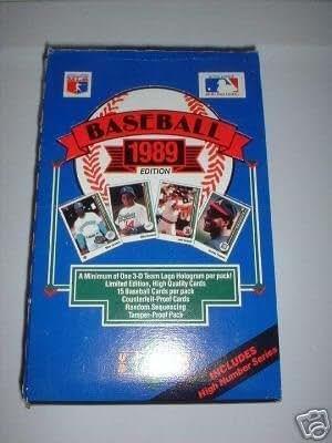 Amazon Com 1989 Upper Deck Baseball Cards Box 36 Packs