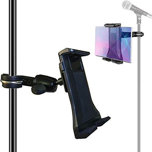 Etubby 4-12.5 Inches Music/Microphone Stand Tablet Holder Aluminum Alloy Phone Holder Cradle Mount for Apple iPhone iPad, Google Nexus, Galaxy Tab and Any Other 4-12.5 Smartphones & Tablets ()