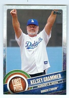 (Kelsey Grammer trading card (Frasier X Men Hank McCoy Beast Dodger Stadium) 2015 Topps First Pitch)