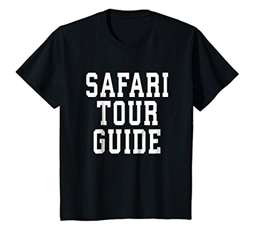 Kids Safari Tour Guide Halloween T-Shirt for Toddlers DIY