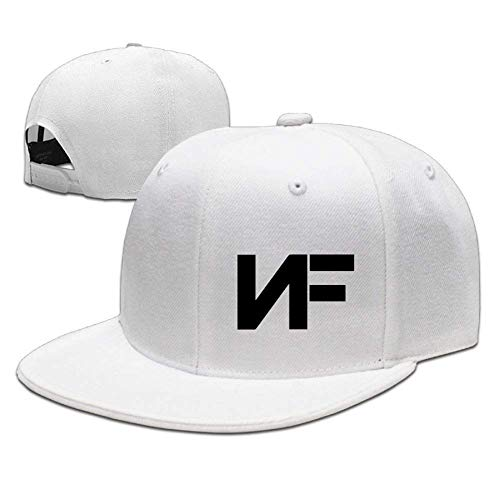 Adjustable NF Stylish Flat Baseball Cap Youth Snaback Hip Hop Hats for Men/Women (One Size, White2)