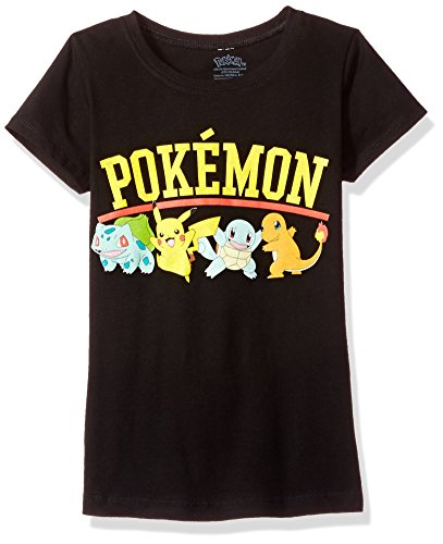 Pokemon Big Girls Group Short-Sleeved Tee, black, M ()