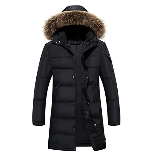 YANXH The New Winter Men Down Jacket Long Section Large Size Coat , black , XXXL by YANXH outdoors