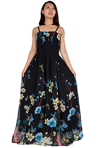 Christmas Dress Up Ideas (MayriDress Maxi Dress On Sale Plus Size Clothing Party Gift Idea Wedding Guest (2XL, Black/ Blue Floral))
